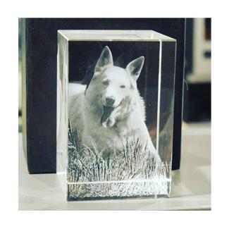 3D Gedenk-Kristall geeignet für 1-4 Personen
