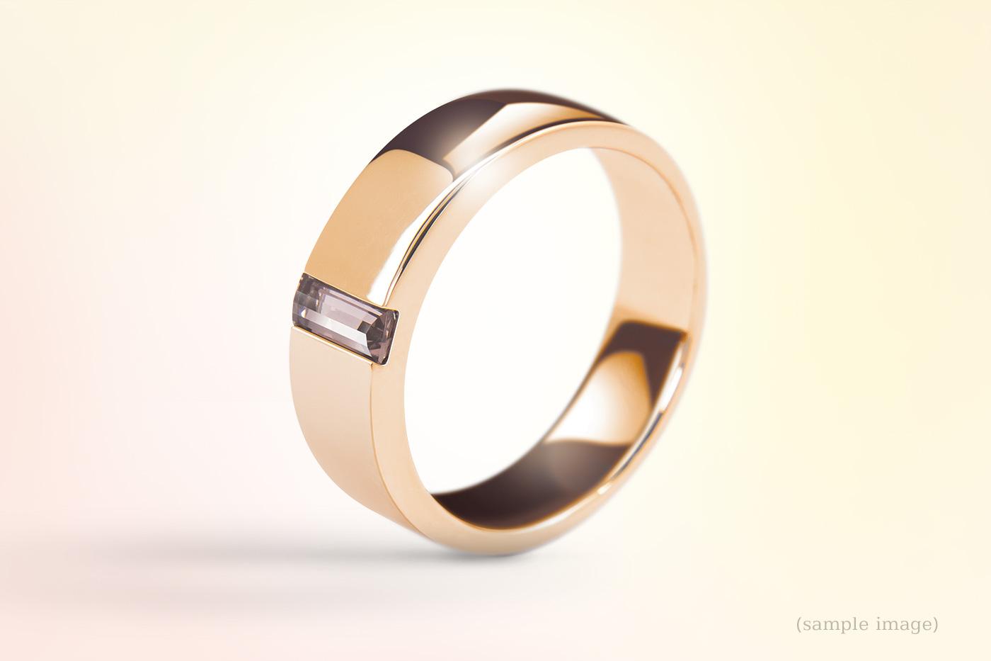 700-Ring gelbgold Edelsteinfarbe Natur für Mann und Frau
