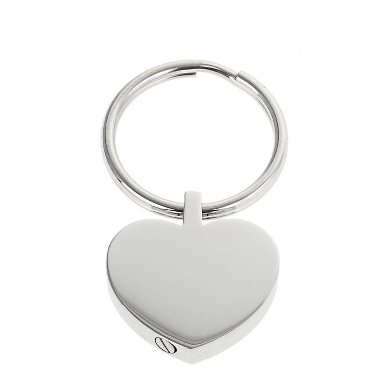 SRC® Schlüsselanhänger Herz Micro-Urne aus poliertem Edelstahl Wunschgravur AP 530